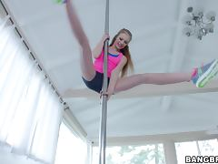 Petite Teen Pole Dancer Avril Hall Getting Penetrated Deep