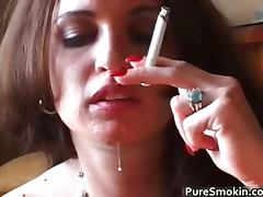 Brunette, Blowjob, Brunette, Fetish, Smoking