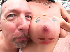 Alia Janine is making a sloppy blowjob on the cam