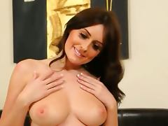 titty brunette babe in super hot shoes
