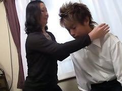 Hardcore action with a mature Japanese teacher
