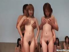 Two tiny Japanese teen girls in a naked part4