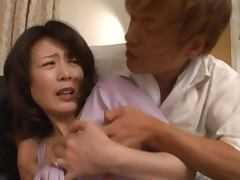 Eriko Miura sucks a cock reluctantly and gets cum on her face tube porn video