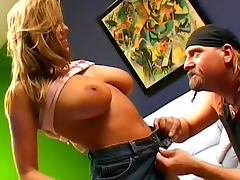 Brian Surewood is penetrating busty blonde Pandora Dream