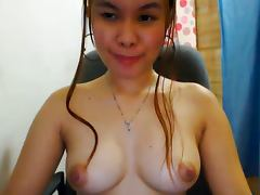 CUTE FILIPINA CAM GIRL SHOWS OFF HER NICE BOOBS