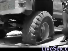 LiveSexcom Sex at the big tires