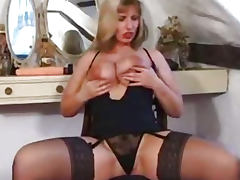 MILF, Dildo, German, MILF, Stockings, German Big Tits