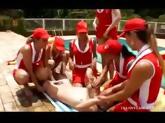 Tranny Baywatch Babes Gang bang Lucky Dude