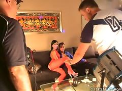 Backroom, Backroom, Backstage, Handjob, Stockings, 3some