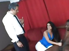 Fucked while husband watching