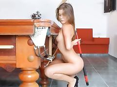 The most erotic glamour on billiards