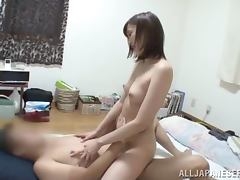 Mei Mizuhara the hot babe with small tits rides a dick
