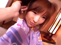 Sweet looking Asian beauty is riding on the cock like crazy