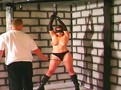 Blindfolded, Babe, Blindfolded, Bondage, Boobs, Cute