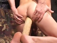 Two hot gays stretch asses with toys porn tube video