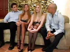 Euro hot blondes Michelle B and Monica Sweetheart