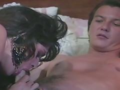 Horny babe gets banged in this vintage vid