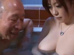 Bathroom, Asian, Bathroom, Big Tits, Couple, Japanese