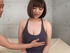 Playing with Asian Babe Marie Momoka's Humongous Juggs tube porn video