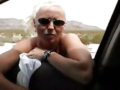Amazing blowjob in the car tube porn video