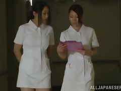 Amazing FFFM Foursome in the Hospital with Japanese Nurses