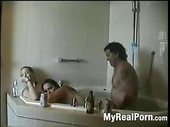 Threesome in jacuzzi tube porn video