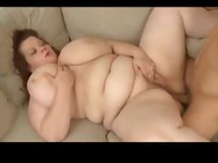 Big titted plumper fucked on a couch tube porn video