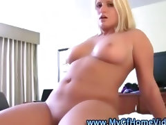 Curvy blonde gf screwed by cock tube porn video