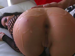 Asa Akira gets humped in anal hole by Keiran Lee