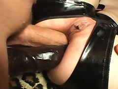 Ass, Ass, Brunette, Double, Stockings, Toys