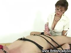 Femdom british milf blowjob tube porn video