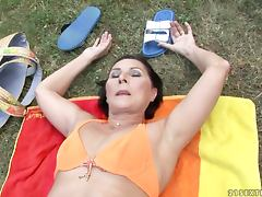 old woman fucked outdoors tube porn video