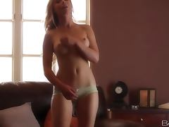 Kayden Kross the nice blonde in lingerie fingers herself