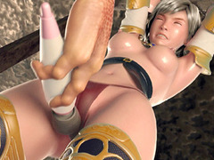Caught 3d hentai girl in chains gets dildoed by monster porn tube video