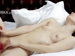 Huge toy in my sticky vagina
