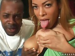 African, African, Big Tits, Blowjob, Couple, Doggystyle
