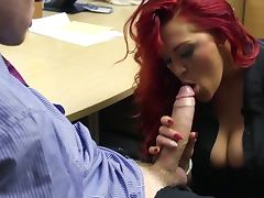 Boss, Big Tits, Boss, HD, Redhead, Secretary