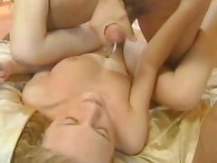 Hungarian hottie gets her pussy ripped apart in the presence of a voyeur