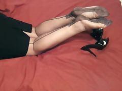 MILF'S FF NYLON LEGS tube porn video