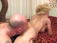 Evita Pozzi Guy Fucks Busty Blonde in Bed
