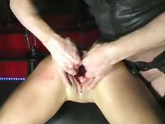 Fingering and fisting this babe's pussy is something special