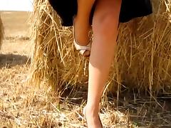RIDE IN THE COUNTRYSIDE WEARING TAN NYLONS tube porn video