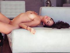 Hardcore brunette is demonstrating her perfect shape