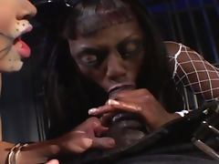 Black stud's dreams come true in the jail cell tube porn video