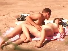 Insatiable wife gets fucked in missionary position on a beach tube porn video