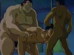 Anime gay hot sucked and gangbanged
