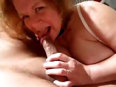 Hot granny sukcs cock and cum
