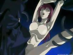 Anime sweetie gets her holes pounded by a creature with tentacles porn tube video
