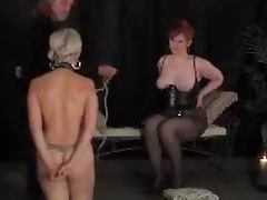 Hot bondage for a kinky mature lady in nylons tube porn video