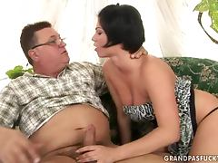 Older Fatty Gets Busy With A Stunning Teen